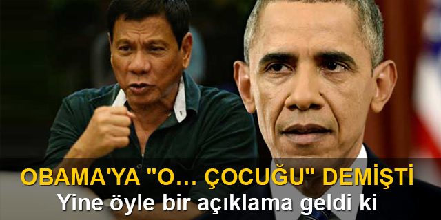 Photo of Filipinler liderinden Obama'ya: Cehenneme kadar yolun var